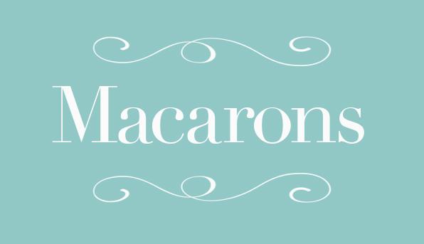 Cartel macarons