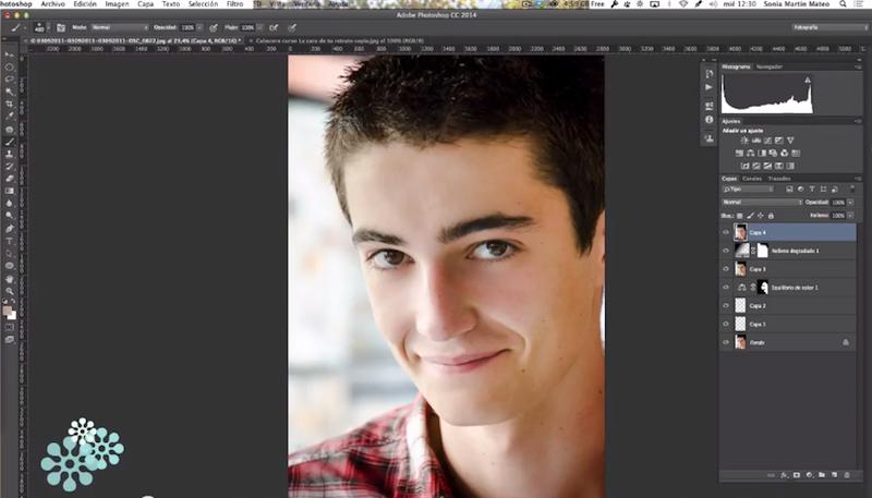 Edición retrato masculino Photoshop