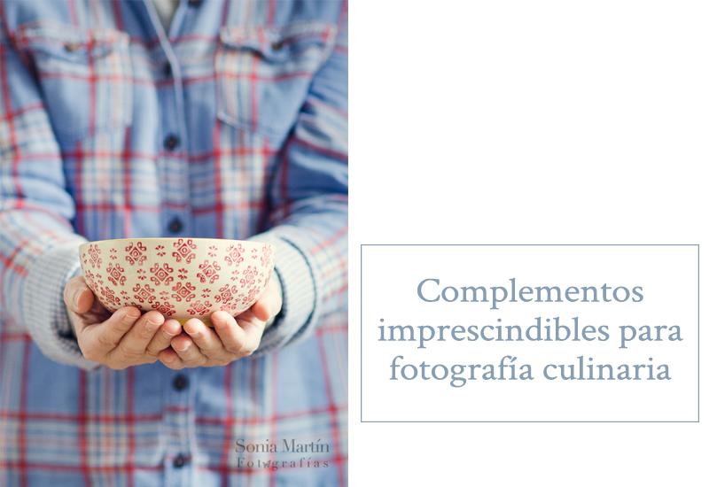 Presentación complementos fotografía culinaria