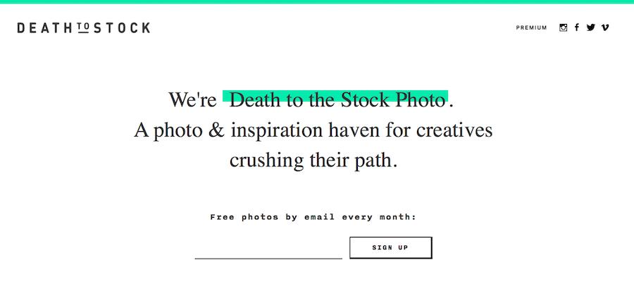 imágenes gratis. Death to the stock photo. Enlace