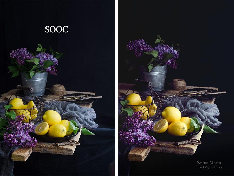 Sill life limones y lilas