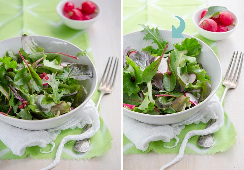 Estilismo culinario para ensaladas