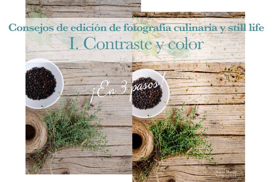 Consejos de edición de fotografía culinaria