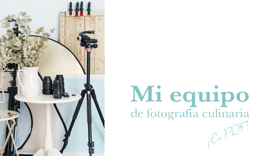 equipo de fotografía culinaria