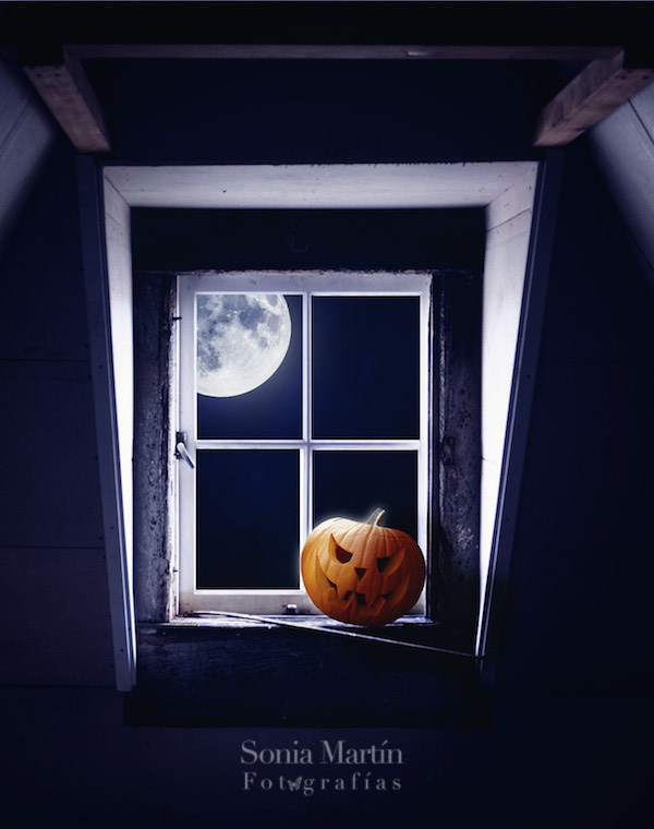 Montaje fotográfico de Halloween