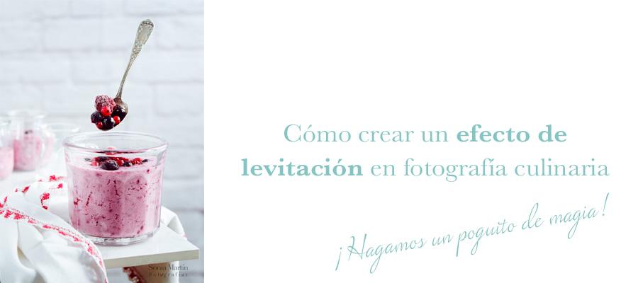 Levitación en fotografía culinaria