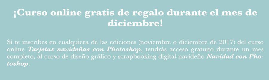 curso online tarjetas navideñas con photoshop