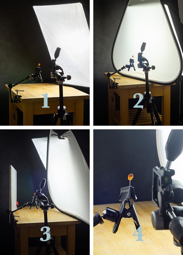 Esquema de iluminación en fotografía macro