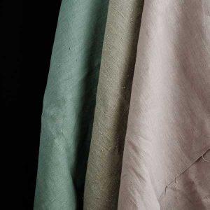 Retal de tela de lino francés lavado