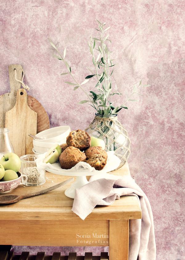 muffins veganos sin gluten