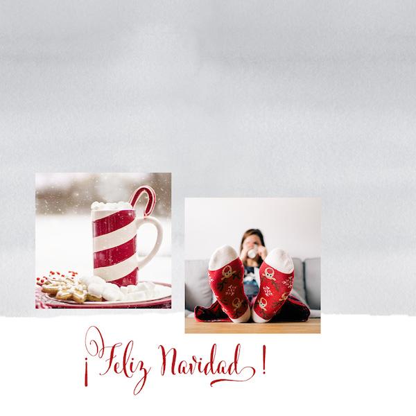 Herramienta marco tarjeta Navidad