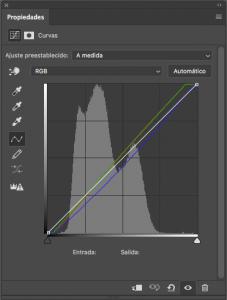 Corrección de color con ajuste de curvas