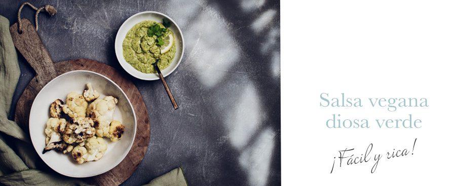 Salsa vegana diosa verde
