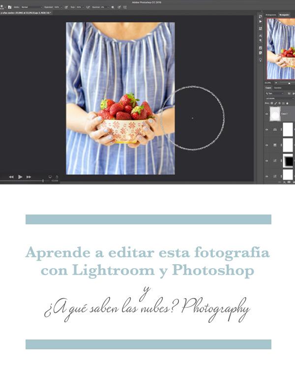 Proceso de edición de una fotografía culinaria