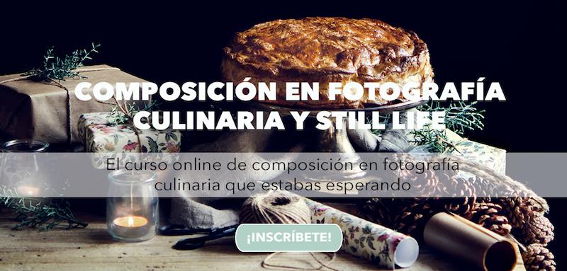 Curso Composición en fotografía culinaria