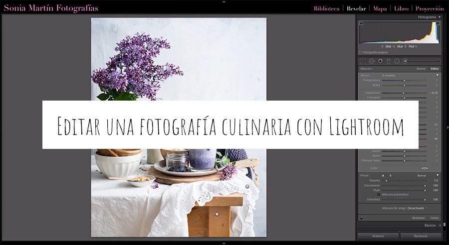Editar una fotografía culinaria con Lightroom