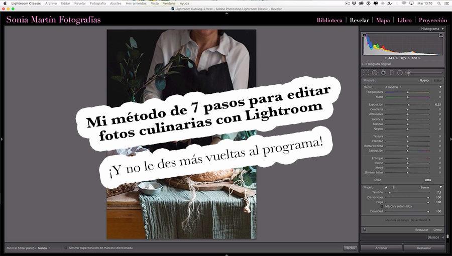 Método para editar fotos culinarias con Lightroom