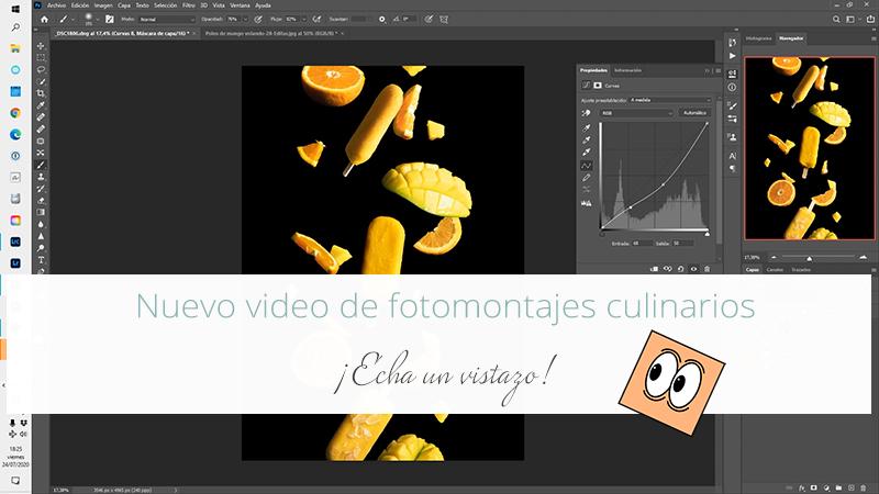 fotomontajes culinarios curso online
