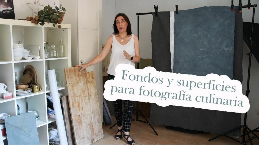 fondos y superficies para fotografía culinaria