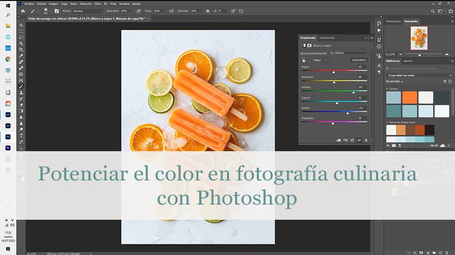 color en fotografía culinaria