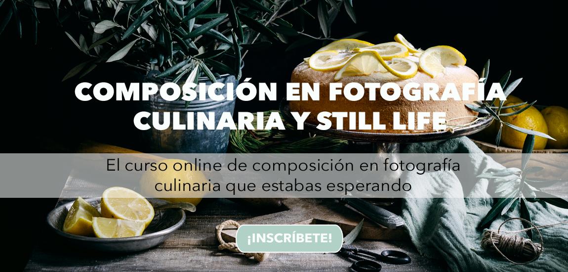 Curso composición fotografía culinaria