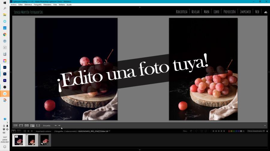 edición en fotografía culinaria
