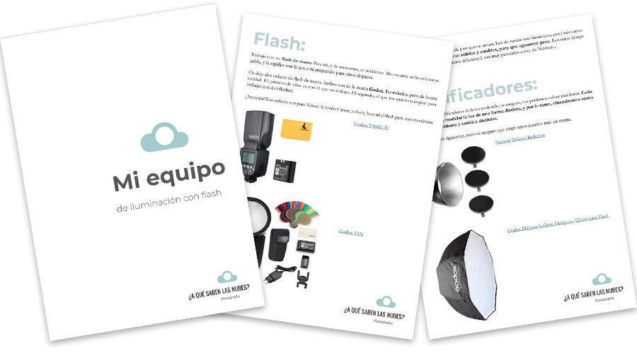 equipo de flash